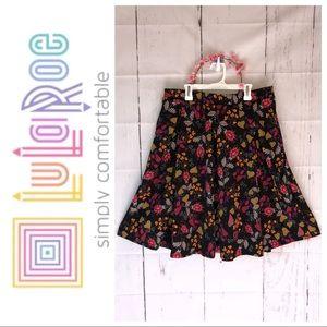 Lularoe fall floral pocket skirt